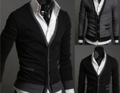 Men's Premium Stylish Mock Pockets Knit Coat Cardigan Cndirect online fashion store China