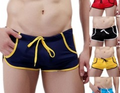 Men's Sexy Swimming Trunks Low Waist Pocket Sports Shorts Beach Wear Swimwear Cndirect online fashion store China