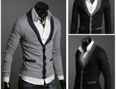 Men's Slim Design Stylish V-neck Cardigans Knitwear Sweaters Cndirect online fashion store China