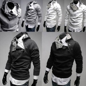 Men's Slim Designed Fitted Hoodies Coat Jacket Sweatshirt Cndirect online fashion store China