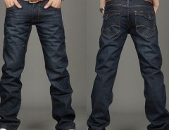 Men's Slim Fit Classic Jeans Trousers Straight Leg Blue Size 30~34 Button New Cndirect online fashion store China