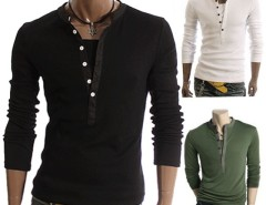 Men's Stylish Casual Best Long Sleeve T-shirt Tee Fit Coat Slim Cndirect online fashion store China