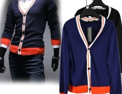 Men's Top Knit Sweater Shirts Cardigans Button V Neck Jacket Cndirect online fashion store China
