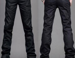 Mens Slim Fit Jeans Trousers Zipper Style Black Size 29~36 Cndirect online fashion store China