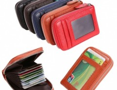 Mens/Womens Fashion Mini Synthetic Leather Wallet ID Credit Cards Holder Organizer Purse Cndirect online fashion store China