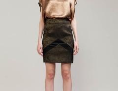 Metallic Salmon Pink Silk Too Top Carnet de Mode online fashion store Europe France