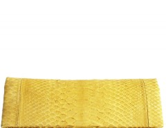 Mimosa Python Leather Clutch - Essentiel Carnet de Mode online fashion store Europe France