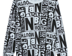 Monochrome Letter Print Long Sleeve Sweatshirt Choies.com online fashion store United Kingdom Europe