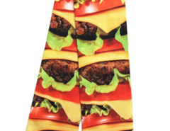 Multicolor 3D Massive Hamburger Print Ankle Socks Choies.com online fashion store United Kingdom Europe
