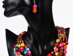 Multicolor Beaded Chunky Statement Collar Nacklace And Earrings Pack Choies.com online fashion store United Kingdom Europe