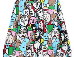Multicolor Cartoon Characters Print Sweatshirt Choies.com online fashion store United Kingdom Europe