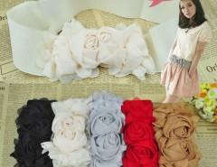 Multicolor Fashion Double Rose Buckle Style Elastic Belt Waistband Cndirect online fashion store China