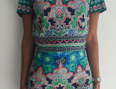 Multicolor Printed Zip Back Top And High Waist Shorts Choies.com online fashion store United Kingdom Europe