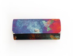 Multicolored Burning Sky Clutch Carnet de Mode online fashion store Europe France