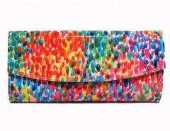 Multicoloured Patent Spot Printed Leather Mini Clutch Carnet de Mode online fashion store Europe France
