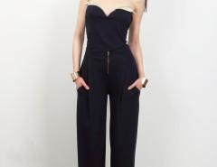Navy Blue Viscose Pants Cézanne Carnet de Mode online fashion store Europe France