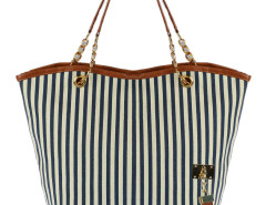 Navy Stripe Tassel Detail Shoulder Bag Choies.com online fashion store United Kingdom Europe