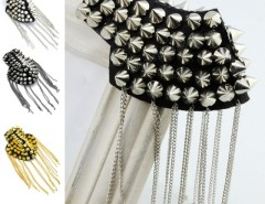 New 1 Pcs Fashion Punk Tassel Shoulder Boards Pointed-toe Rivet Club Party Cndirect online fashion store China
