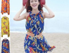 New Bohemian Women Lady Sleeveless Chiffon Beach Short Sundress Dress Dresses Free Belt Cndirect online fashion store China