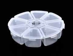 New Clear Round Bead Nail Art Tips Display Storage Box Container Case 8 Compartments Cndirect online fashion store China