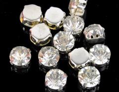 New Fashion 50pcs Crystal Rhinestone Jewelry Accessories Silver Plated Polyhedron Beads Cndirect online fashion store China