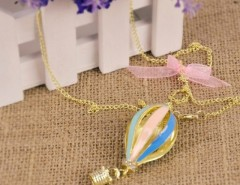 New Fashion Korean 1pcs Dreamer on Air Colorful Crystal Focus Fire Balloon Necklace Cndirect online fashion store China