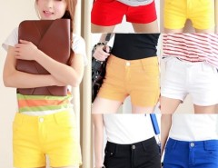 New Fashion Lady's Girls Trendy Colorful Casual Mini Chino Shorts Hot Pants Cndirect online fashion store China