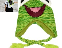 New Fashion Lovely Cute Baby Children Crochet Cap Earflap Hat Kids Green Cndirect online fashion store China