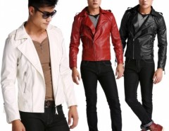 New Fashion Men's Slim Top Designed Sexy Synthetic Leather Short Jacket Coat Cndirect online fashion store China
