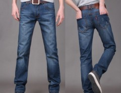 New Fashion Men's Stylish Straight Leg Denim Pants Jeans Trousers Cndirect online fashion store China
