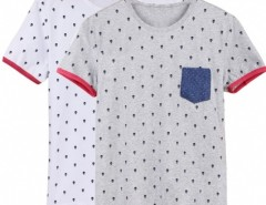 New Fashion Stylish Men's O-neck Short Sleeve Dots Casual T-shirt Shirt Cndirect online fashion store China