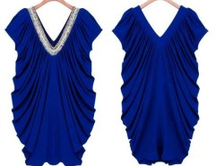 New Fashion Women's Ladies Nail bead V-Neck Summer Slim Dress S/M/L/XL Cndirect online fashion store China