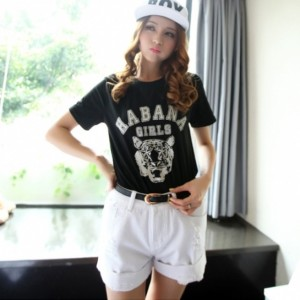 New Fashion Women's Loosen White Pocket Broken Denim Jeans Shorts 5 Sizes Cndirect online fashion store China