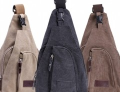 New Men's Fashion Satchel Shoulder Bag New Tide Diagonal Canvas Multi-function Bag Cndirect online fashion store China
