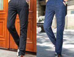 New Men's Stylish Straight Leg Pants Loose Casual Trousers Cndirect online fashion store China