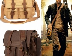 New Men's Vintage Style Canvas Leather School Military Shoulder Bag Messenger Bag Cndirect online fashion store China