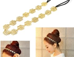 New Style Women's Girl Hollow Rose Flower Metallic Headband Hair Band 8HOT Cndirect online fashion store China