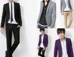 New Stylish Men One Button Suit Slim Fit Casual Business Suit Blazer Coat Cndirect online fashion store China