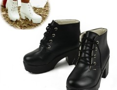 New Vintage Women Ladies Sandals High Heel Platform High Heels short boots 2 Colors Cndirect online fashion store China