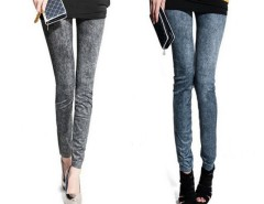 New Women Fashion Leggings Stretch Skinny Leggings Tights Pencil Pants Casual Snowflake Pattern Jeans Cndirect online fashion store China