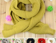 New Women's Fashion Solid Color Knitting Scarf Long Scarf Cape Scarf Wrap Shawl 6 Colors Cndirect online fashion store China