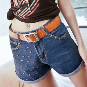 New Women's Star Studs Shorts Pants Jeans Trouser Hot Pants 2 Colors Cndirect online fashion store China