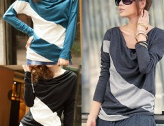 New Women's batwing long sleeve T-shirt Tops & Blouses Cndirect online fashion store China