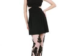 Nude Transparent Veil and Black Lace Trousers Carnet de Mode online fashion store Europe France