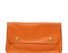 Orange Leather Purse Carnet de Mode online fashion store Europe France