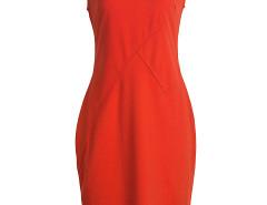 Orange V-neck Cap Sleeve Back Zipper Wrap Pencil Dress Choies.com online fashion store United Kingdom Europe