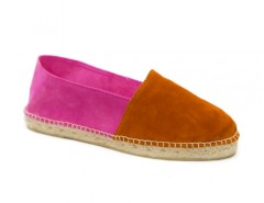 Orange and Fuchsia Suede Espadrilles - Orangine Carnet de Mode online fashion store Europe France