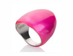 Oval ring - neon pink Carnet de Mode online fashion store Europe France