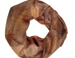 Perla Peach Silk Scarf Carnet de Mode online fashion store Europe France