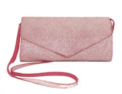 Pink Suede and White Caviar Leather Clutch Carnet de Mode online fashion store Europe France
